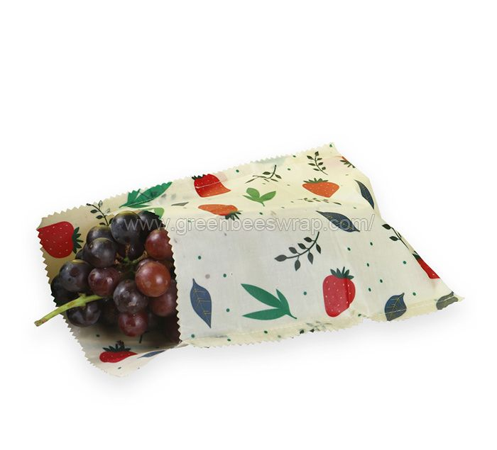 Beeswax food bag with cover
