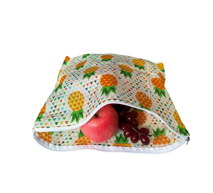 Beeswax Food Wrap Bag With Zipper